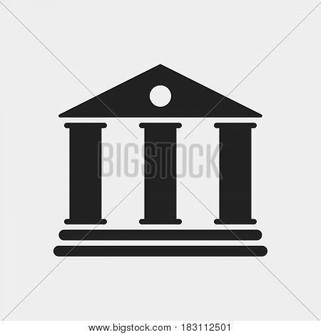 University Icon Vector isolated on white .