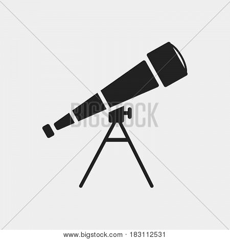 Telescope Icon Vector isolated on white .