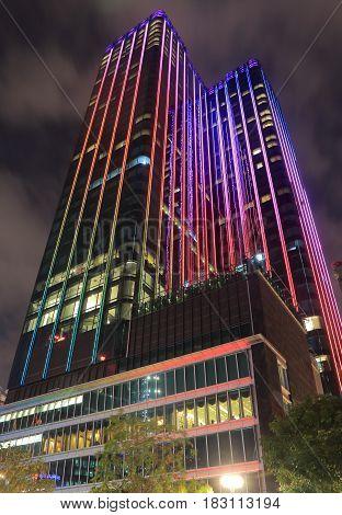 HO CHI MINH CITY VIETNAM - NOVEMBER 27, 2016: World Trade Center building.
