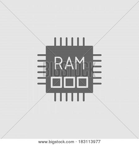 Memory Ram Flat Vector Icon