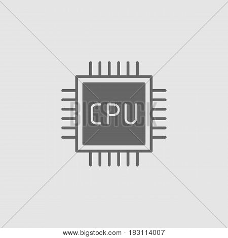 Cpu. Flat Vector Icon