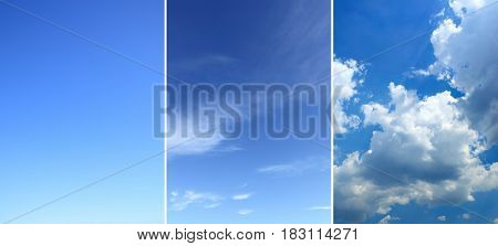Sky backgrounds set (vertical)