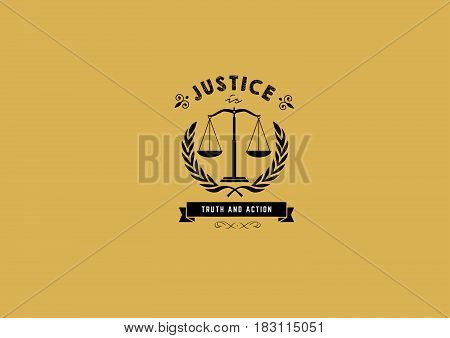 justice is truth and action icon logo