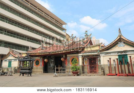 Chua Ong Bon temple in Chinatown Ho Chi Minh City Saigon Vietnam