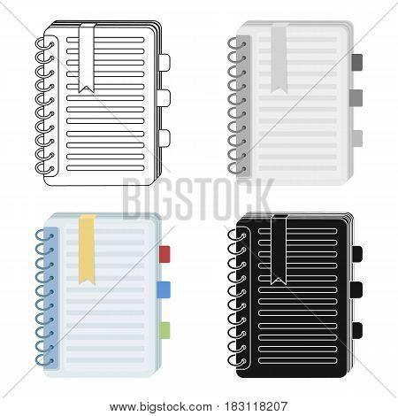 Personal dictionary icon in cartoon design isolated on white background. Interpreter and translator symbol stock vector illustration.