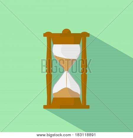Sandy hours isolated on background. Vector illustration.