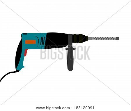 drill isolated on white background. Vector illustration.