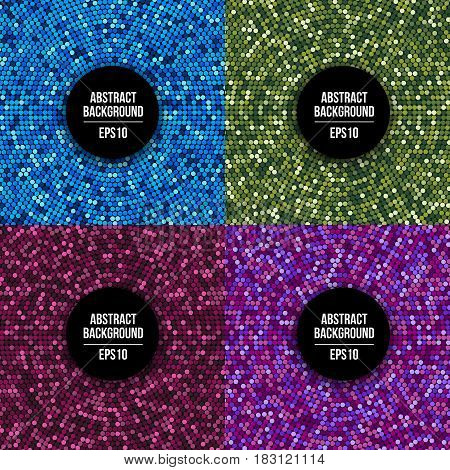 Carnival and party dotted mosaic abstract vector background with multicolored sparkling dots. Decoration backdrop sparkling, illustration of colorful mosaic dot sparkling
