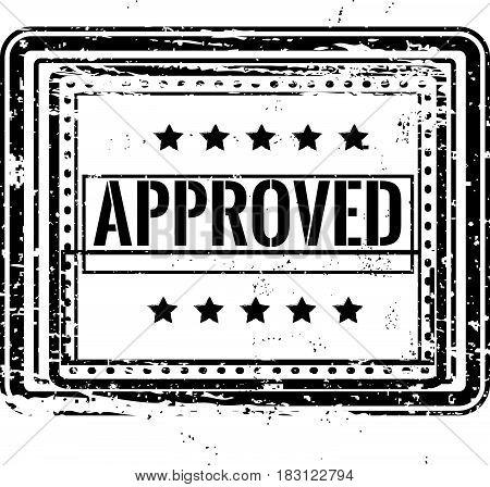 approved warranty label icon stampt grunge vintage