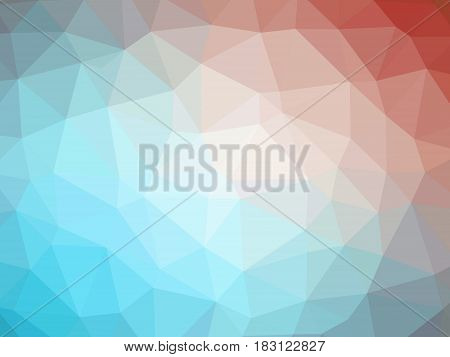 Abstract Red Blue Gradient Low Polygon Shaped Background