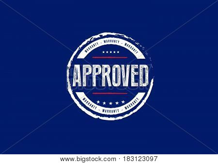 approved warranty label icon stampt retro vintage grunge