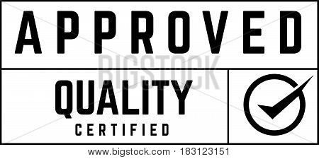 approved quality certified icon vector background vintage