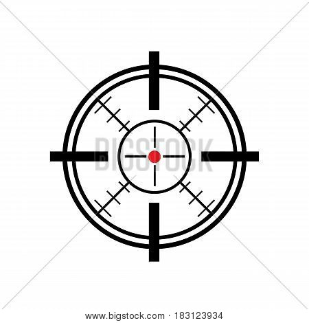 sight isolated on white background. Vector illustration.