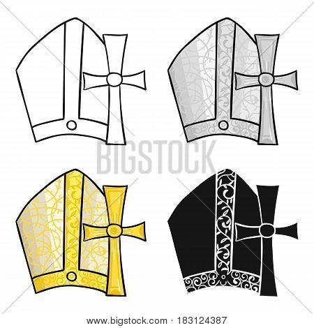 Vatican symbols icon in cartoon style isolated on white background. Italy country symbol vector illustration.