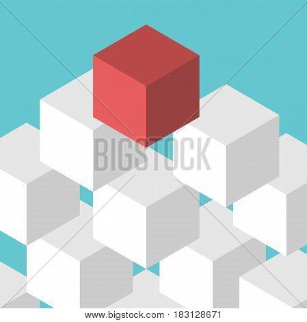Red Unique Cube, Leadership