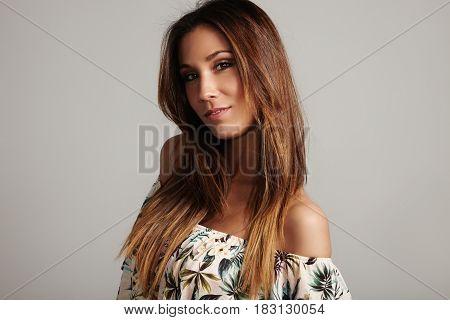 Pretty Spanish Woman With Healthy Hair