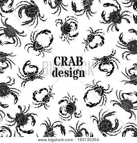 Black And White Crabs Background.