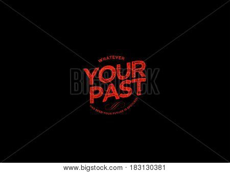 your past icon vector vintage retro grunge
