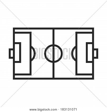 Soccer Field Vector Icon.
