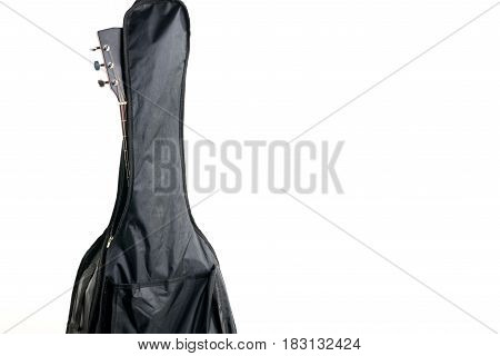 Soft Cover For Guitars On A White Background. Acoustic Or Electric Guitar. Horizontal Frame