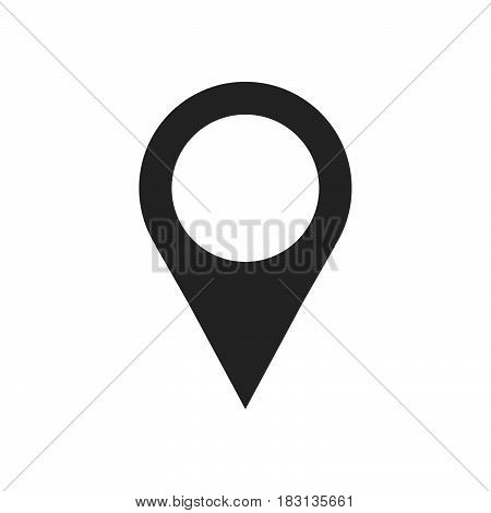 map pointer icon isolated on white background .