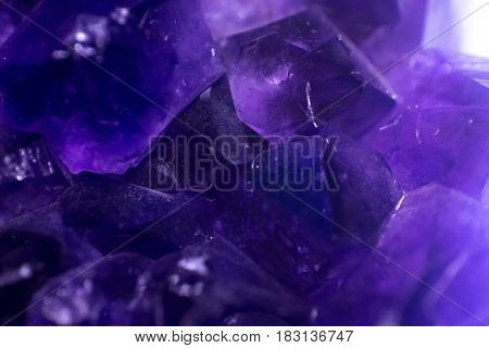 Macro Shot Of The Surface Of Violet Amethyst