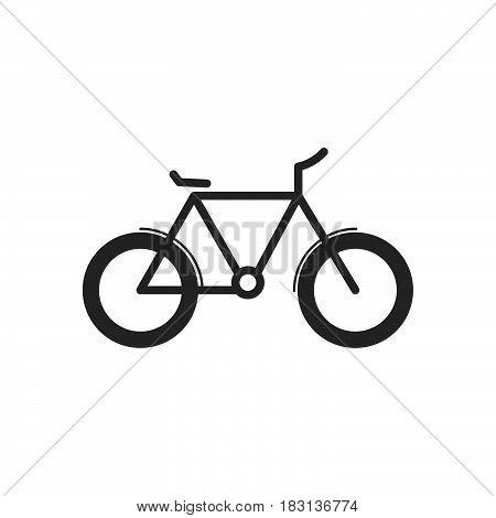 bike icon isolated on white background .