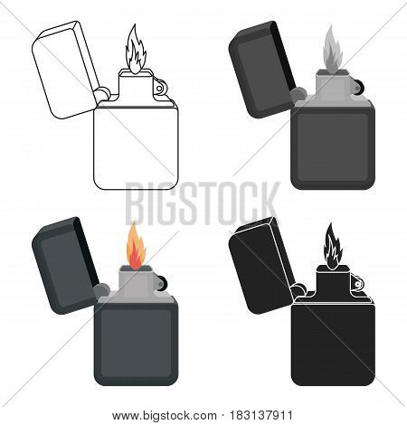 Lighter icon in cartoon style isolated on white background. Light source symbol vector illustration