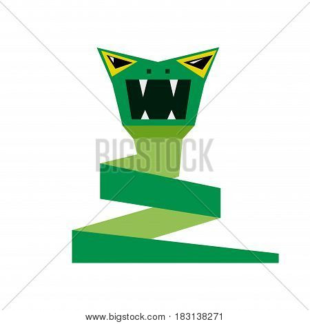 Vector abstract isolated sign aggressive viper on white