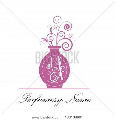 Vector abstract icon perfumery store, isolated illustration