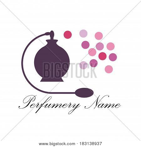 Vector abstract icon perfumery store isolated illustration