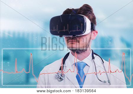 Modern Medic With Virtual Reality Goggles
