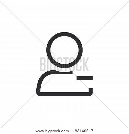 Remove User Line Icon, Outline Vector Logo Illustration, Linear Pictogram Isolated On White