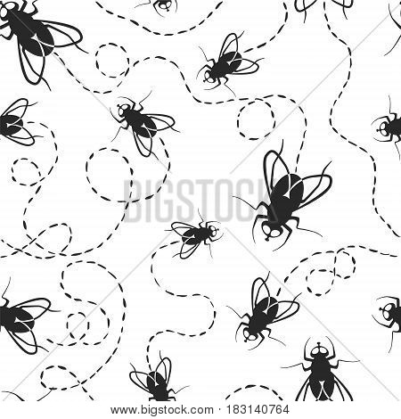 Seamless Pattern - Fly With Traces