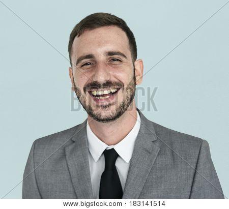 Businessman Smiling Happiness Portrait