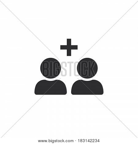Add Friend Icon Vector, Solid Logo Illustration, Pictogram Isolated On White