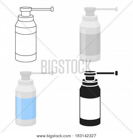 Throat spray icon cartoon. Single medicine icon from the big medical, healthcare cartoon.