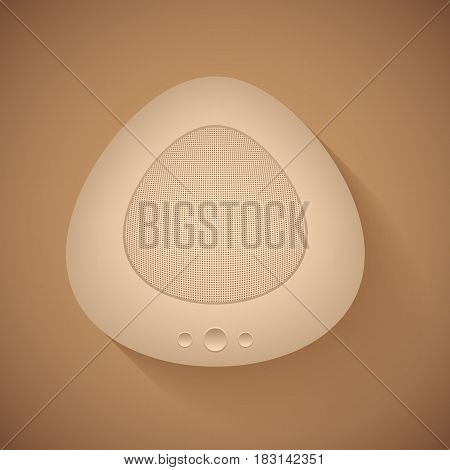 Loudspeaker subwoofer with shadow on a brown background