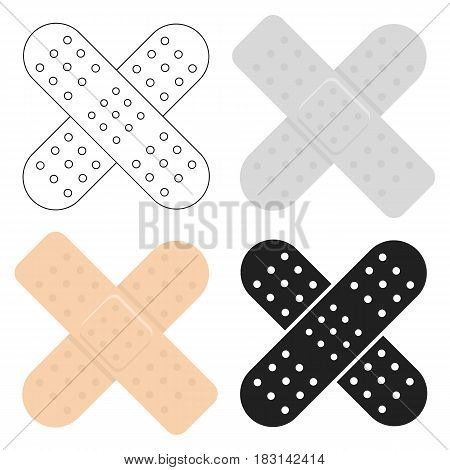 Adhesive plaster icon cartoon. Single medicine icon from the big medical, healthcare cartoon.