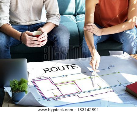 Route plan transportation business strategy