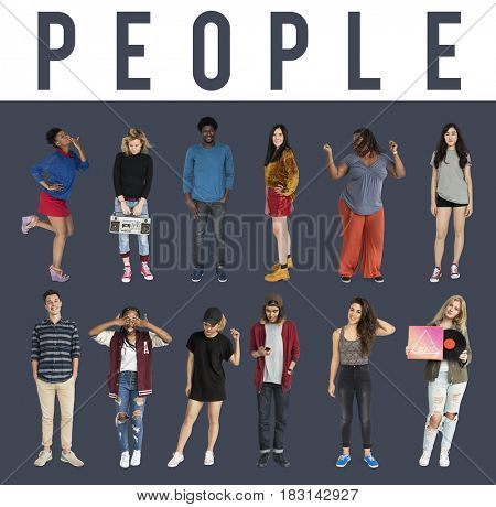 Group of diverse ethnic people