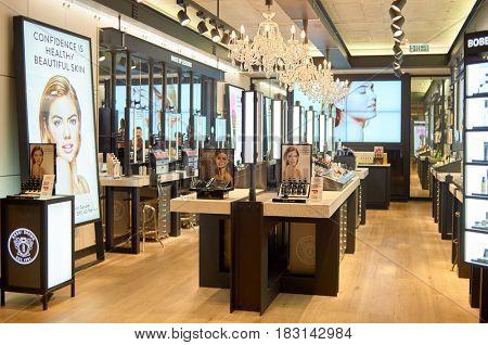 HONG KONG - MAY 05, 2015: Bobbi Brown store at shopping center in Hong Kong.