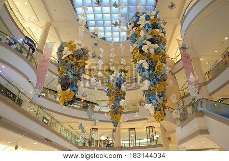 BANGKOK, THAILAND - JUNE 21, 2015: inside a shopping center in Bangkok.