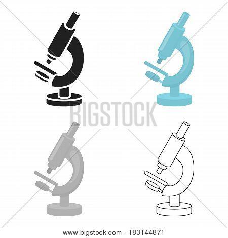 Microscope icon cartoon. Single medicine icon from the big medical, healthcare cartoon.