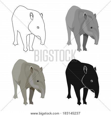 Mexican tapir icon in cartoon style isolated on white background. Mexico country symbol vector illustration.