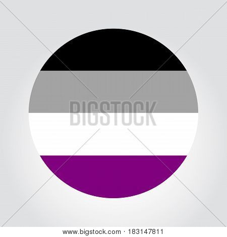 Asexual Pride Flag In A Form Of Circle