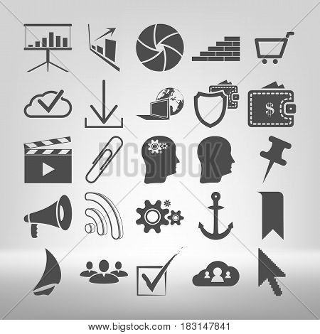 Set Of Internet And Communiation Related Vector Icons