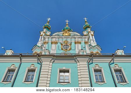 St Andrew church in Kyiv Ukraine in spring