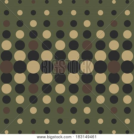 Halftone camo background. Vector dots texture retro. Abstract dotted background. Camouflage pattern. Green olive