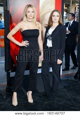 Hunter King and Joey King at the Los Angeles premiere of 'Unforgettable' held at the TCL Chinese Theatre in Hollywood, USA on April 18, 2017.